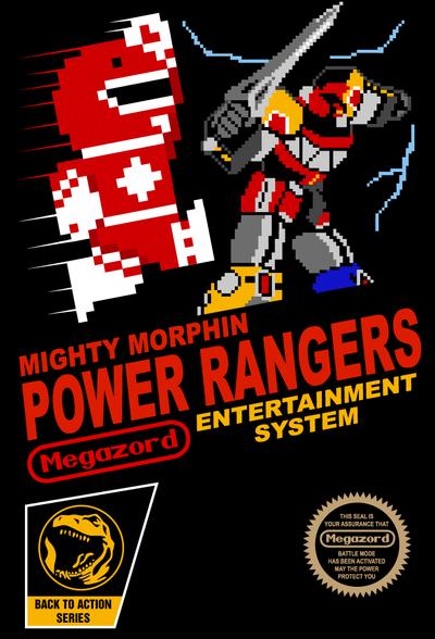 8- bit Power Rangers by wildwing64