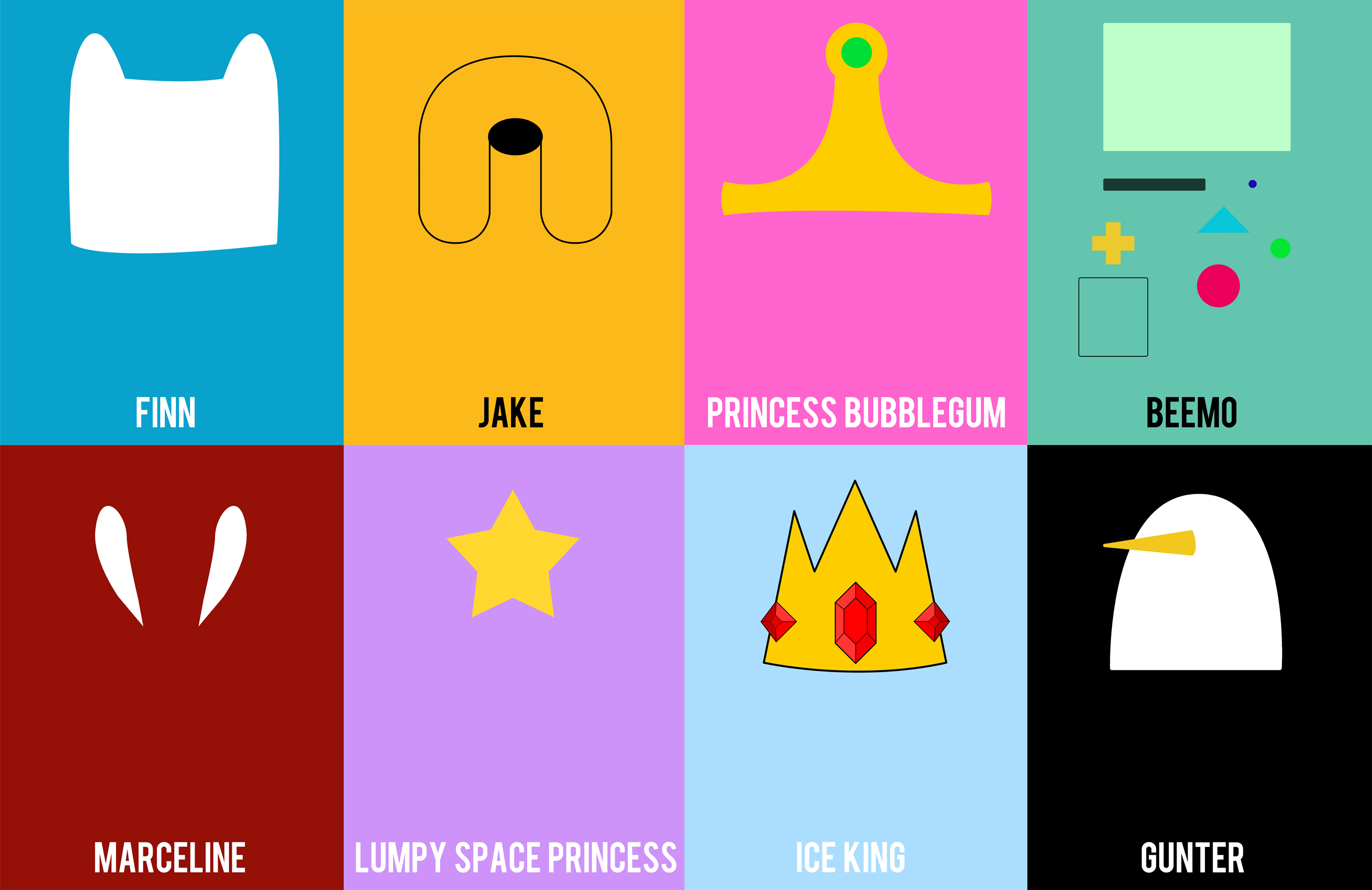 Adventure Time Minimalistic by TheGonff