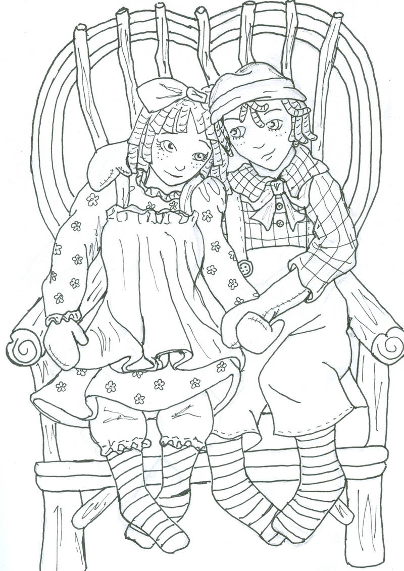 raggedy ann and andy by vampievampire on deviantart