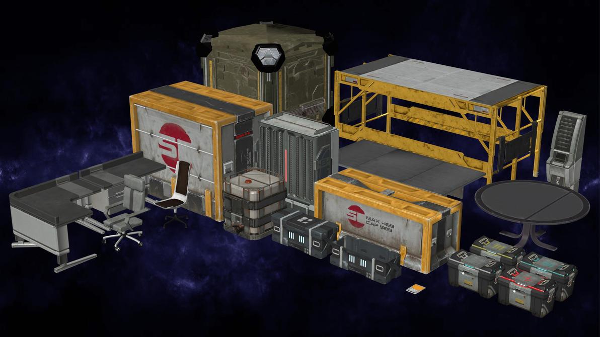 Initiative Props Pack ME: Andromeda for XNALara by Torol