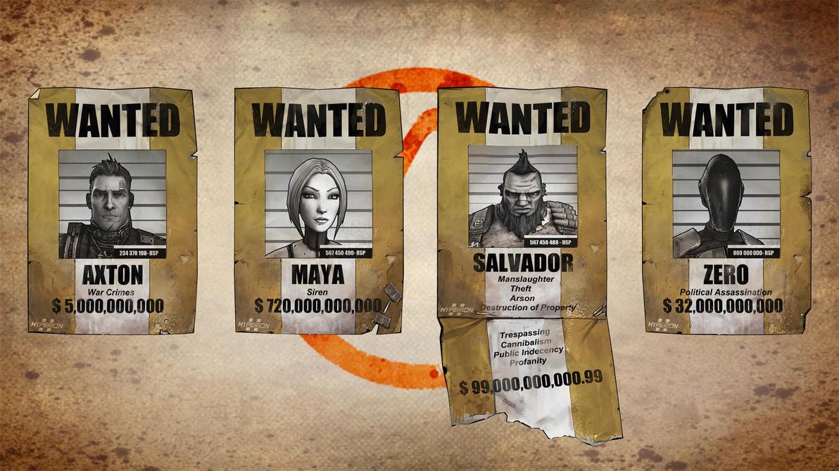 Vault Hunter Wanted Posters XNALara by Torol