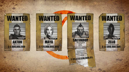 Vault Hunter Wanted Posters XNALara by Torol