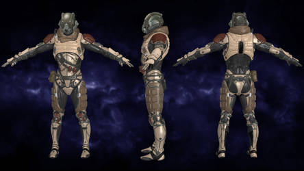 Exile Raider - Mass Effect Andromeda for XNALara by Torol