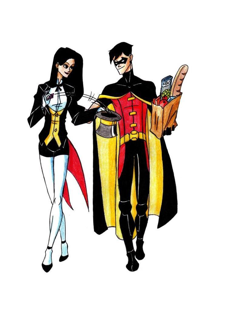 Robin and Zatanna by Lana125Zatanna And Robin