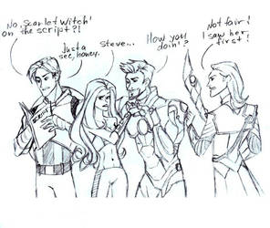 Avengers and Scarlet Witch by Lana125