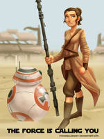 The Force is Calling You by SteveMillersArt