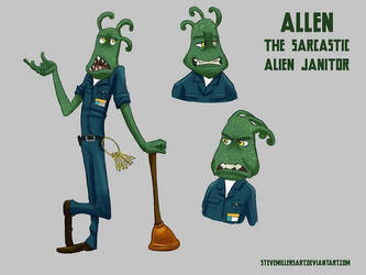 Allen the Janitor by SteveMillersArt