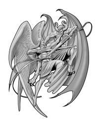 Angel and Demon tattoo