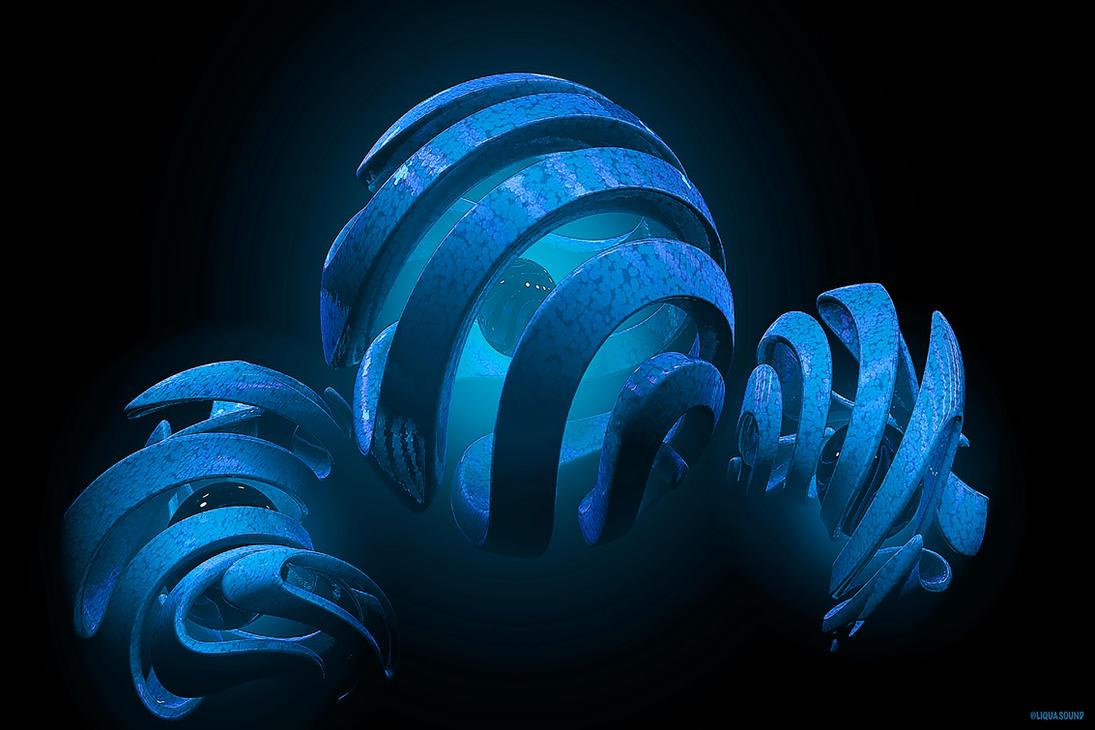Blue Swirls Sheres by Cjvan2017