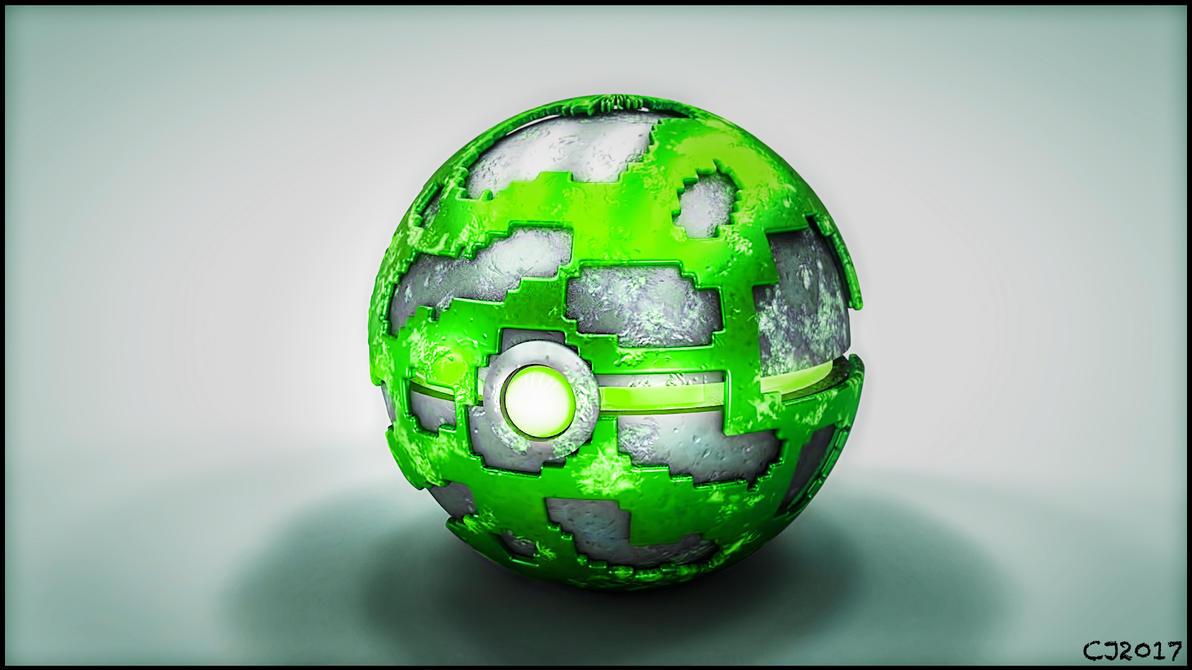 pokeball Green by Cjvan2017