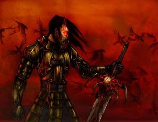 warrior red