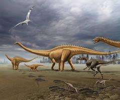 Jurassic landscape by dustdevil