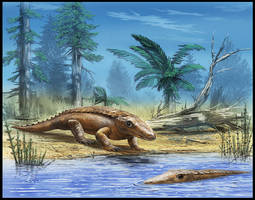 Chroniosuchus paradoxus by dustdevil
