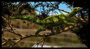 Megalancosaurus preonensis by dustdevil
