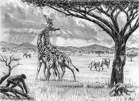 Early Pliocen fauna of Africa
