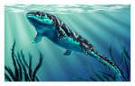 Ichthyostega floating color