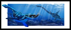 Cretaceous marine reptiles by dustdevil