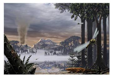 Carboniferous landscape by dustdevil