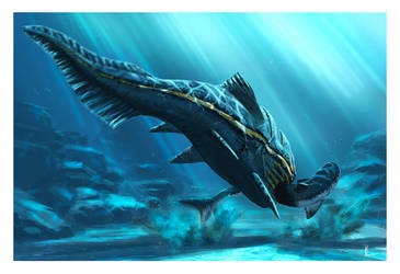 Holdenius vs Ctenacanthus by dustdevil