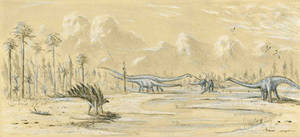 Jurassic Sketch by dustdevil