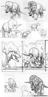 Triceratops studies and sketches by dustdevil