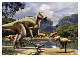 Display of late cretaceous species by dustdevil