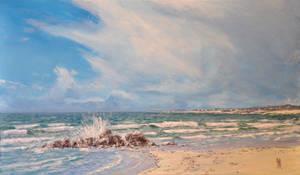 View from Keremma beach - Bretagne - France by dustdevil