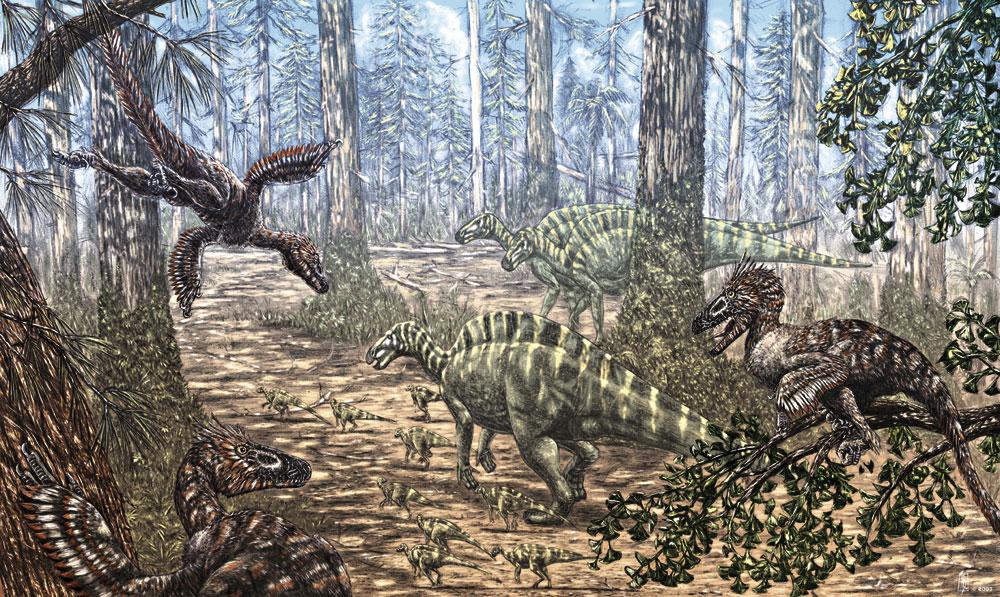 Variraptor and Rhabdodon by dustdevil