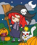 Halloween Coloring Contest Entry by Dragunnitum