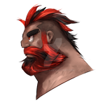 Red Mohawk and Beard