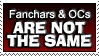 Stamp: Fanchars are not OCs by Jammerlee