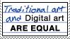 Stamp: Traditional vs Digital by Jammerlee