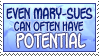 Stamp: Mary-Sue Potential by Jammerlee
