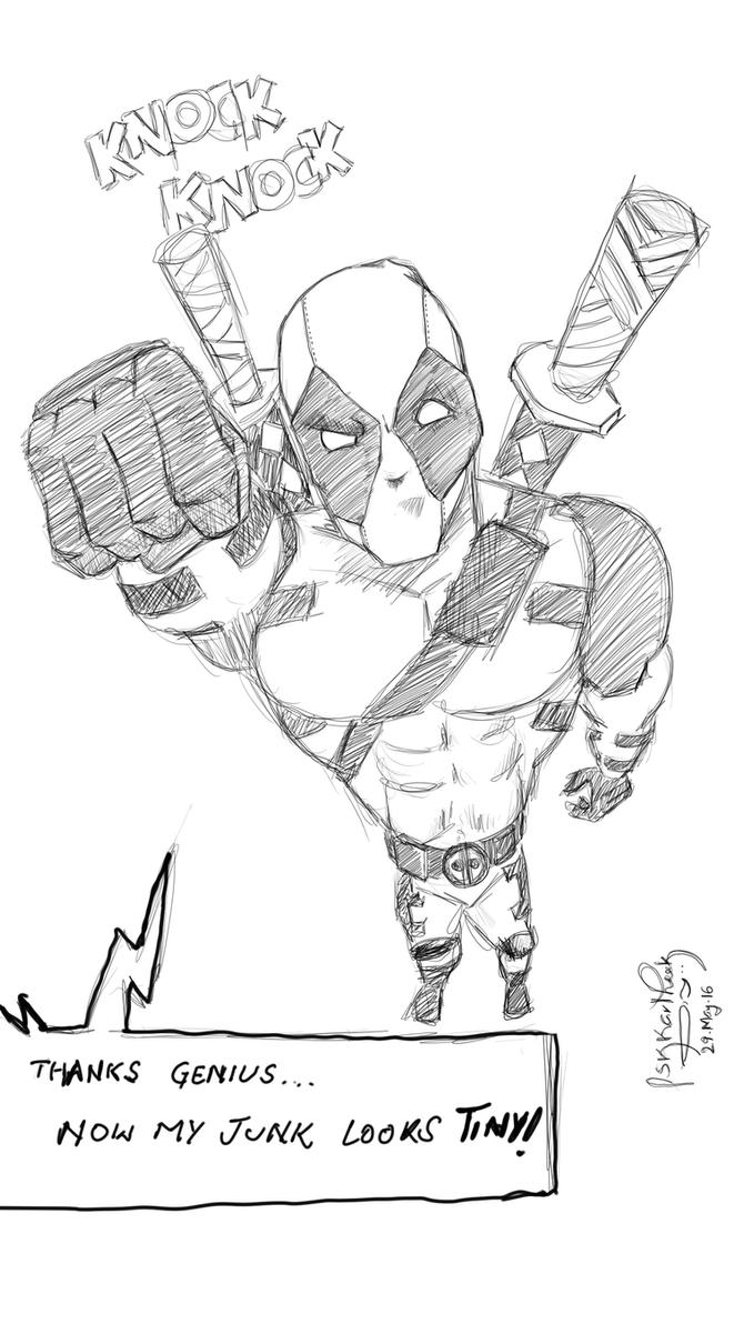 Deadpool - Foreshortened! by pskkartheek