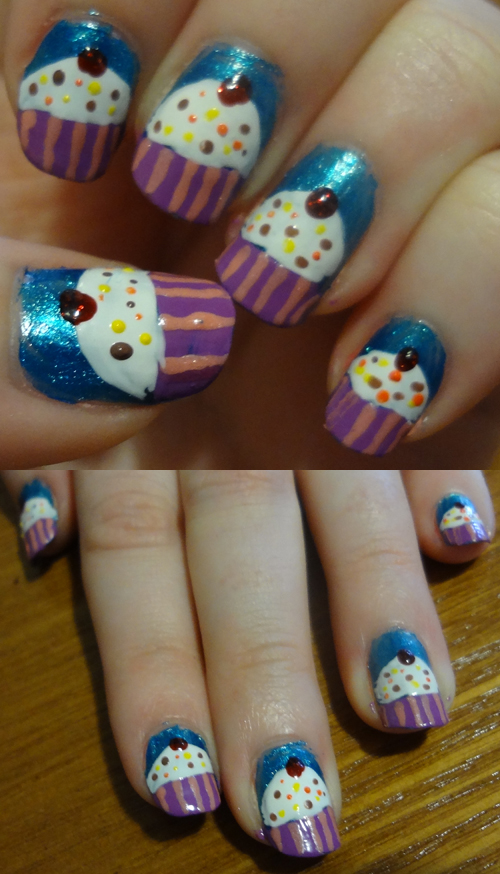 Cupcake Nails by kelles-nails