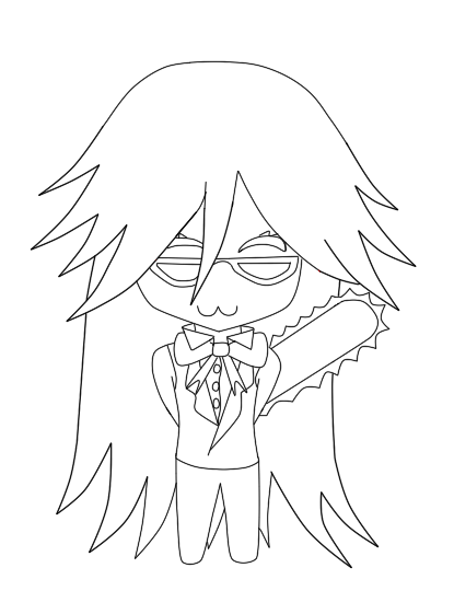 Q Line Art : Black butler sebastian coloring pages