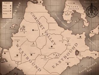 BlackFire: Map of Sinnoh by Carminadelic