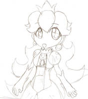 Princess Peach Uncolored by cluelesscomedy123