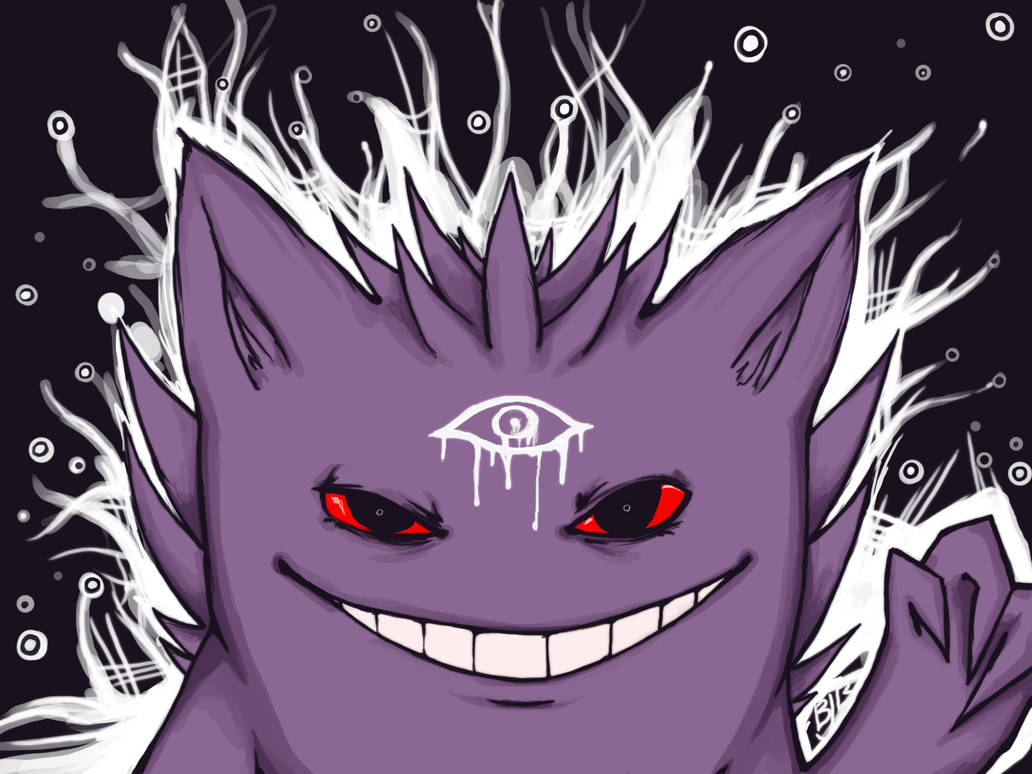 Gengar used Mean Look! by cluelesscomedy123