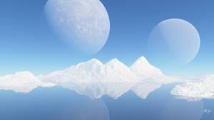 The Triple Peaks of Gelida Mundi by BGai