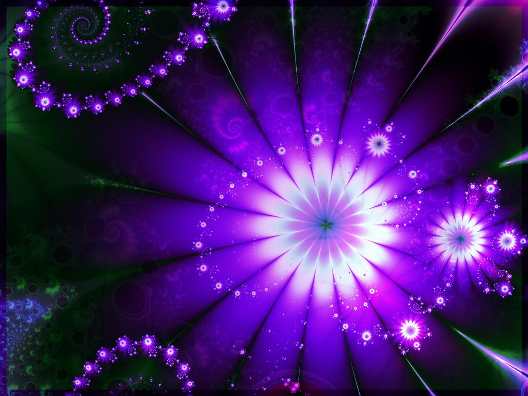 Magical Purple Flowers by BGai