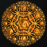 Golden Mandala by BGai