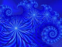 September Blue Flowers by BGai