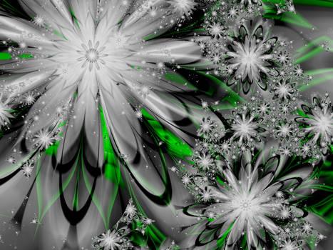 Silver flowers for December by BGai