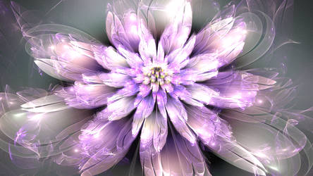 Purple and White Delight by BGai