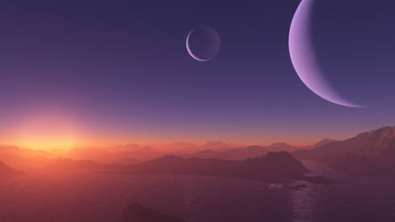 Sunset on another world by BGai
