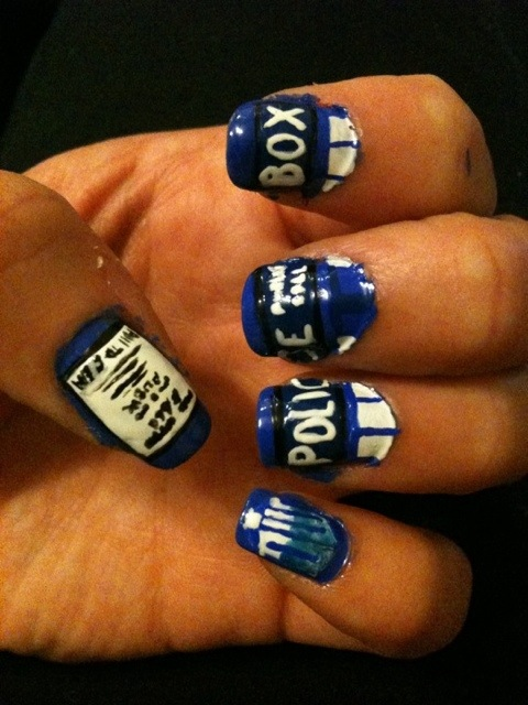 Tardis Nail Art By Me And Jd On Deviantart