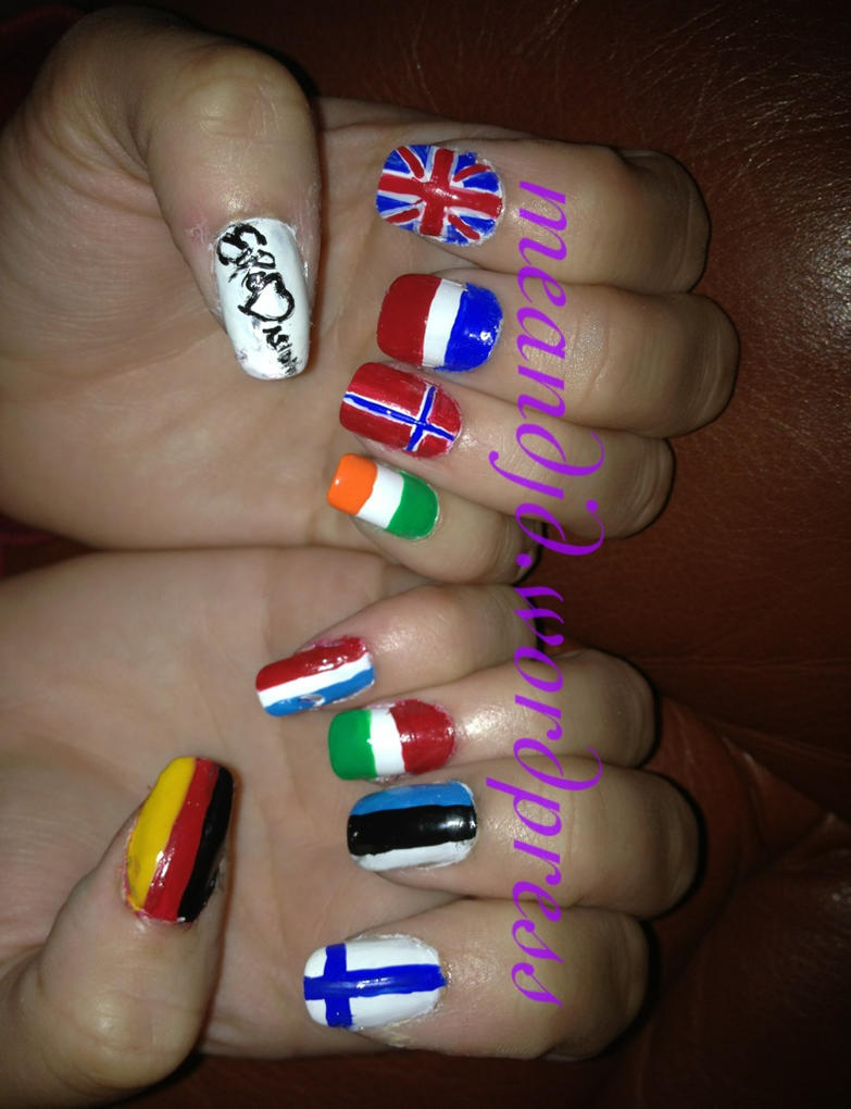 Eurovision nail art by me-and-jd on DeviantArt