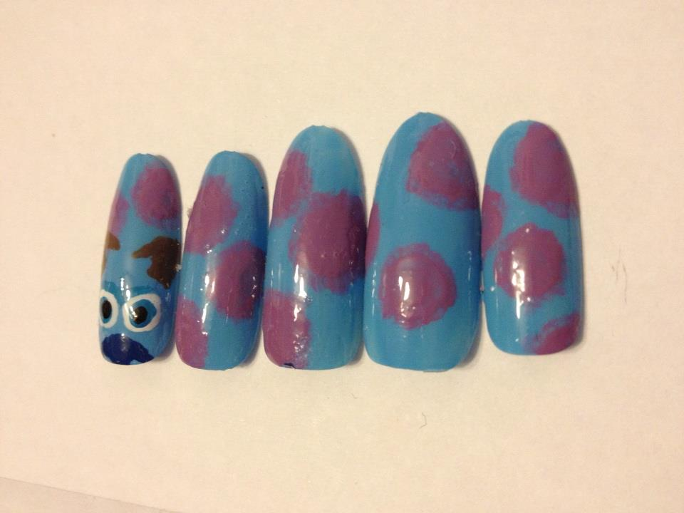 Monsters inc Sully nails by me-and-jd on DeviantArt