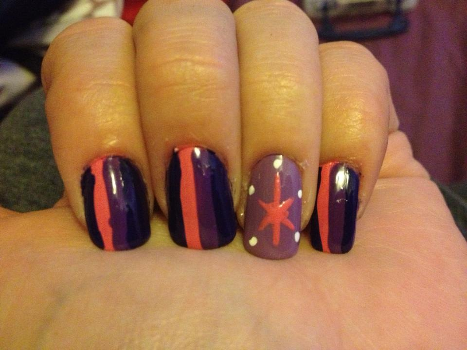 Twilight Sparkle Nail Art By Me And Jd On Deviantart